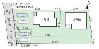 【区画図】グラファーレ宇都宮市下栗町3期 新築一戸建て