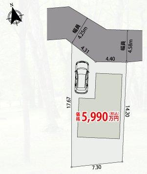 【区画図】三鷹市深大寺3丁目 新築一戸建て 西武多摩川線 新小金井駅