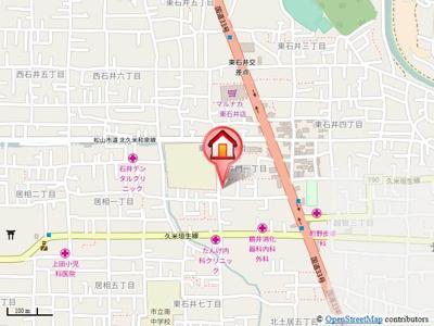 【地図】グランドハイム東石井・