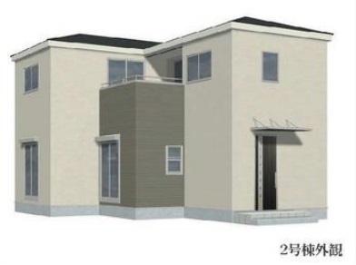 【外観パース】2号棟 リーブルガーデン 越谷市東越谷8丁目 新築戸建て 全4棟