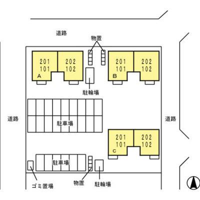 【区画図】ガーデンAyashi B