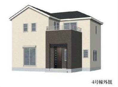 【外観パース】4号棟 リーブルガーデン 越谷市東越谷8丁目 新築戸建て 全4棟