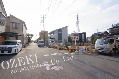 【周辺】3号棟 越谷市東越谷新築戸建て3棟現場4LDK