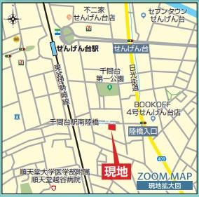 【地図】3号棟 越谷市千間台東1丁目 新築戸建て 全3棟