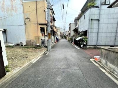 【前面道路含む現地写真】京都市東山区福稲御所ノ内町