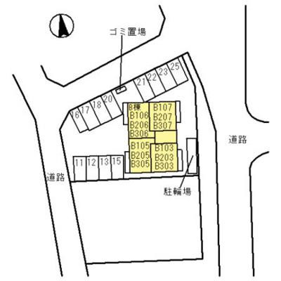 【区画図】D-room吹屋町 B棟