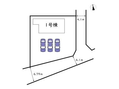【区画図】姫路市勝原区勝山町 2期/全1棟
