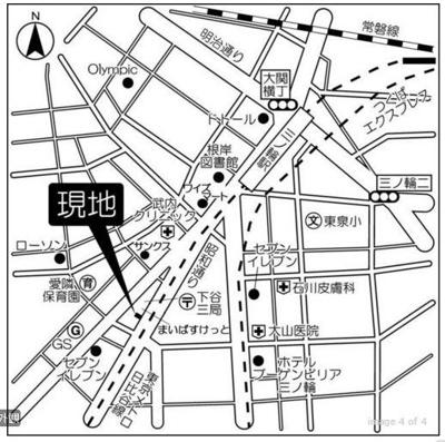 【地図】グランカーサ三ノ輪