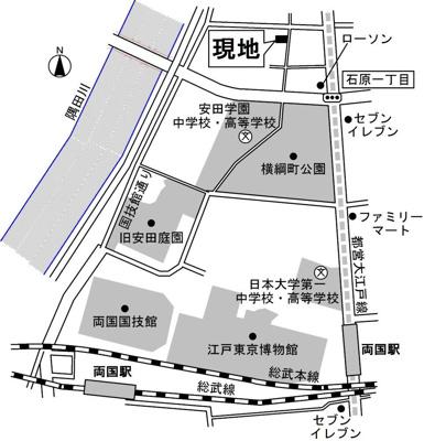 【地図】レジデンス横網