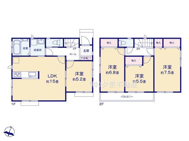 川口市東本郷1290(2号棟) 新築一戸建て