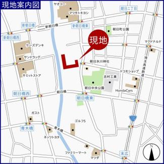 【地図】ライオンズガーデン川口