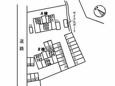 【区画図】ボンヌ・シャンス B棟