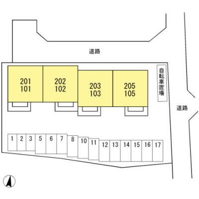 【区画図】ラルーチェ万々