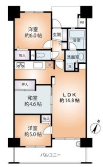 3LDK 価格3880万円 専有面積65.00㎡ バルコニー面積9.92㎡