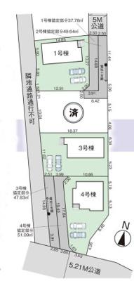 【区画図】グラファーレ宇都宮市宝木町6期 新築一戸建て