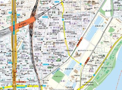 【地図】エステムコート新大坂ⅩⅡオルティ