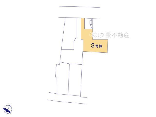 【区画図】北区奈良町104-4(3号棟)新築一戸建てブルーミングガーデン