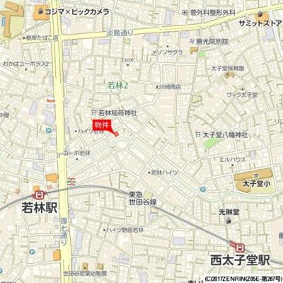 【地図】ミニョン若林