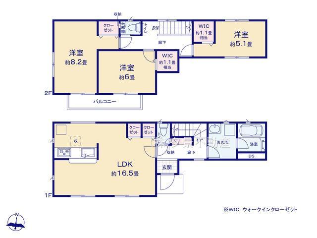 川口市大字東本郷1630-1(1号棟)新築一戸建てクレイドルガーデン