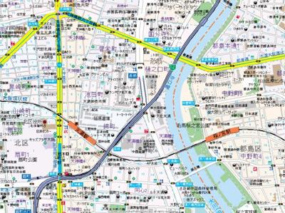 【地図】S-RESIDENCE天満Gracis