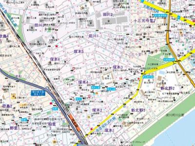 【地図】ベラジスタ塚本