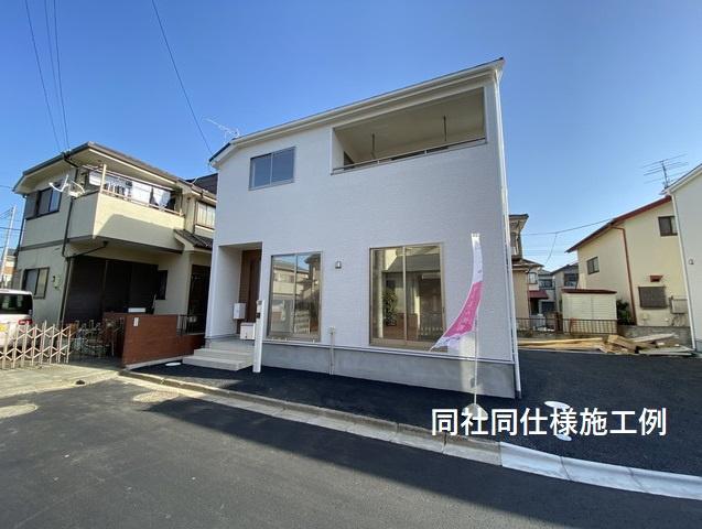 完成のイメージパースです。新京成線「二和向台」駅徒歩22分の全2棟の新築一戸建です。