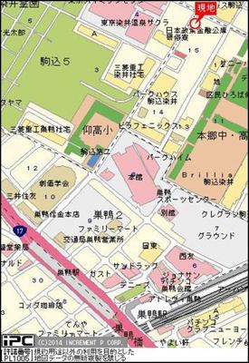 【地図】グランヴァン駒込染井