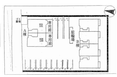 【区画図】サザンリーフB