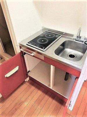 【キッチン】レオパレス八原