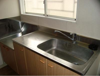 ガスコンロ設置可能なキッチン
