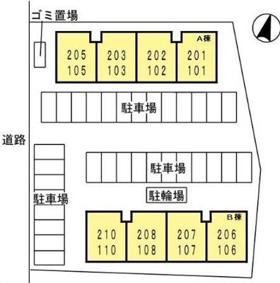 【区画図】アパルトマントNFB B棟