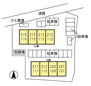 【区画図】アンプルールA棟