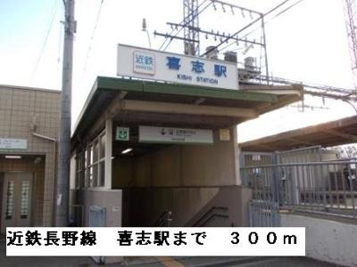 近鉄長野線喜志駅まで300m