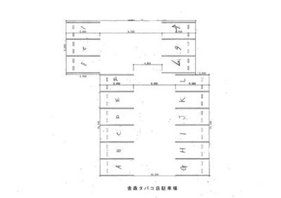 【区画図】西浦2丁目駐車場K