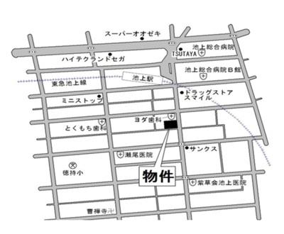 【地図】ラインハウス池上