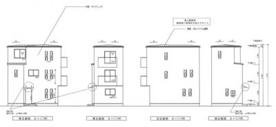 【外観パース】大阪市西成区花園南1丁目 新築戸建