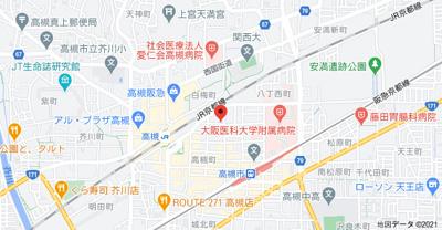 【地図】プレジール高槻 (株)Roots