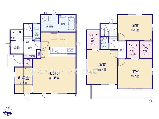 【区画図】上尾市上 17期 新築一戸建て グラファーレ 01