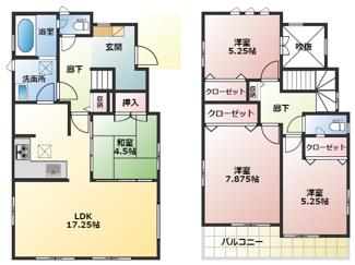 碧南市平七町2丁目新築分譲住宅6号棟間取りです