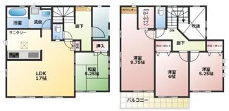 碧南市平七町2丁目新築分譲住宅2号棟間取りです