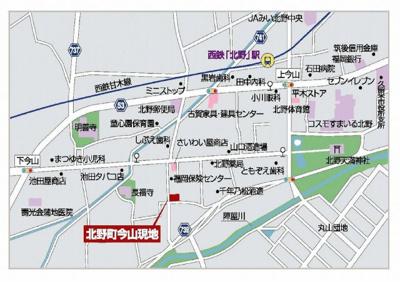 【地図】久留米市北野町今山