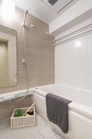 東急ドエルアルス石川台:雨の日のお洗濯ものを干すにも便利な浴室乾燥機・追い焚き機能付き浴室です!