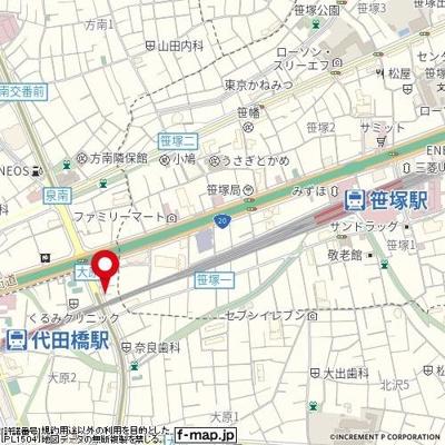 【地図】菱和パレス笹塚