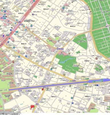 【地図】パレステュディオ南青山