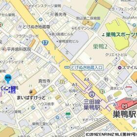 【地図】ドゥーエ巣鴨