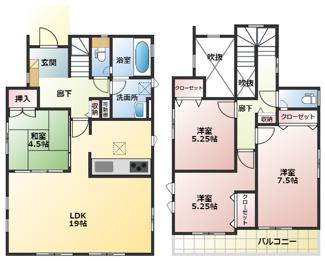 碧南市平七町2丁目新築分譲住宅7号棟間取りです