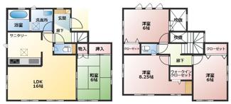 碧南市平七町2丁目新築分譲住宅4号棟間取りです。