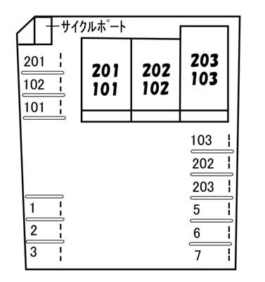【区画図】ダイヤメゾン F棟