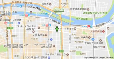 【地図】ヒズ・イマージュ北浜