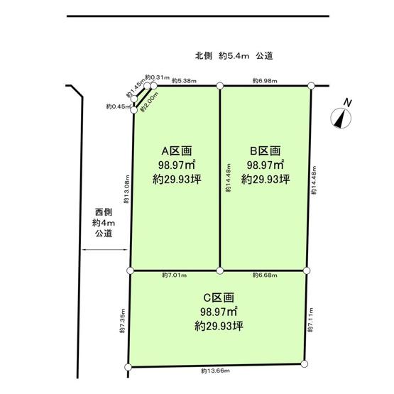 【土地図】仲介手数料無料 杉並区善福寺3丁目建築条件無売地